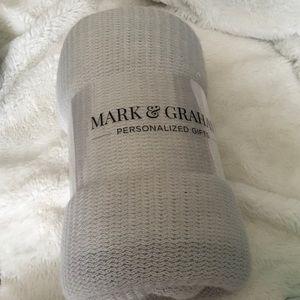 Mark & Graham Bedding - Mark & Graham Williams-Sonoma Gray Throw Blanket